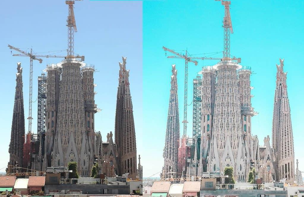 Using the photo editing app Lightroom to enhance travel photos.